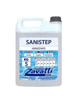 5 Lt Sanistep prodotto igienizzante battericida per pulizia
