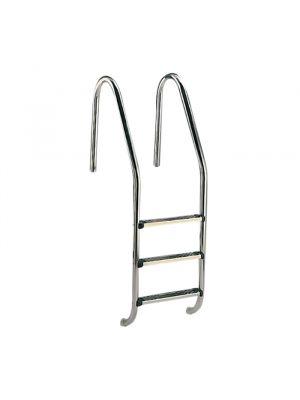 Scaletta Standard a quattro gradini Luxe per piscina interrata a skimmer Astralpool in acciaio inox