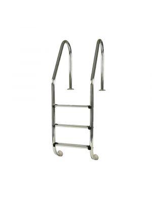 Scaletta 3 gradini in acciaio Inox per piscina interrata