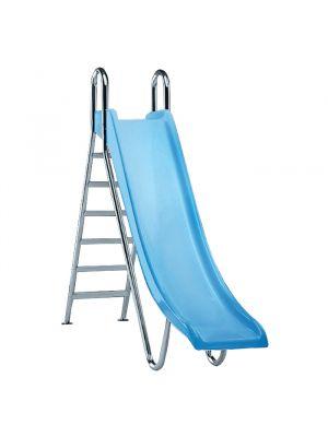 Scivolo per piscina modello Diritto Altezza 1,30 mt Astralpool azzurro chiaro in poliestere
