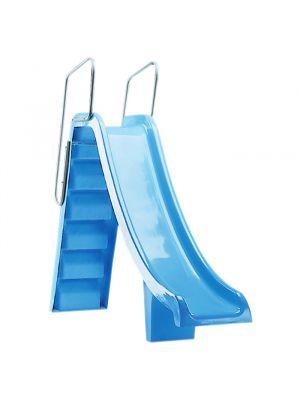 Scivolo per piscina modello Pranaslide Altezza 1,80 mt Astralpool azzurro chiaro e alluminio
