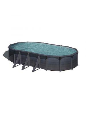piscina fuori terra gre serie kea rivestimento liner grigio