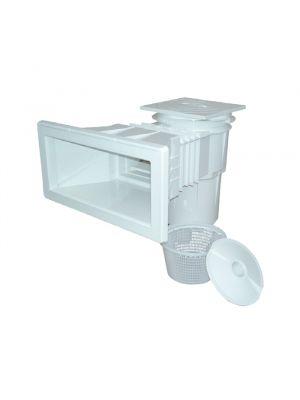 Skimmer bocca larga svasata in ABS 17,5 Lt per piscina in cemento Astralpool bianco con cestello