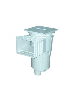 Skimmer bocca standard stretta in ABS 17,5 Lt per piscina in cemento Astralpool bianco coperchio tondo