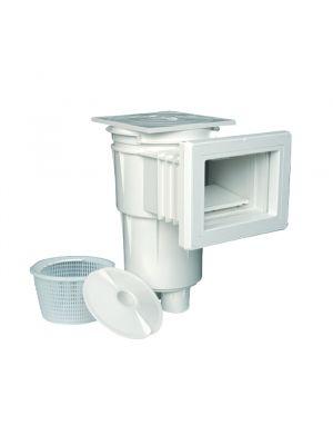 Skimmer bocca standard e flangia in ABS 17,5 Lt per piscina in cemento Astralpool bianco con cestello