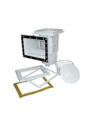 Skimmer bocca standard in ABS 15 Lt per piscina con liner pvc Astralpool bianco con guarnizioni