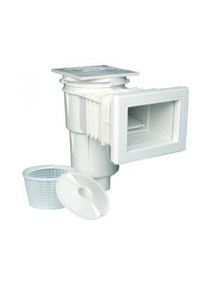 Skimmer bocca standard con prolunga e flangia in ABS 17,5 Lt per piscina in cemento Astralpool  con cestello