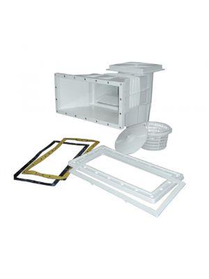 Skimmer bocca standard con prolunga in ABS 15 Lt per piscina con liner pvc Astralpool con guarnizioni
