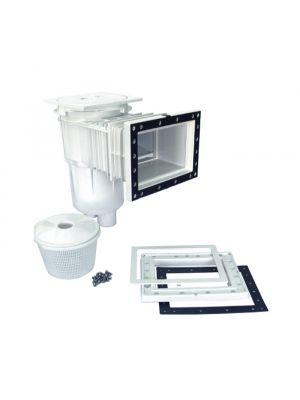 Skimmer a bocca standard con prolunga in ABS 17,5 Lt per piscina in liner pvc - Astralpool