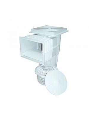 Skimmer bocca standard stretta in ABS 15 Lt per piscina in cemento Astralpool bianco con cestello
