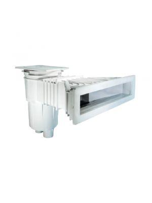 Skimmer NORM a bocca ampia svasata in ABS 17,5 Lt per piscina prefabbricata Astralpool bianco per piscina privata o pubblica