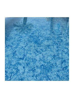 Bobina 25 x 1,65 m - telo pvc armato Special Flag Pool - bianco/azzurro marmorizzato