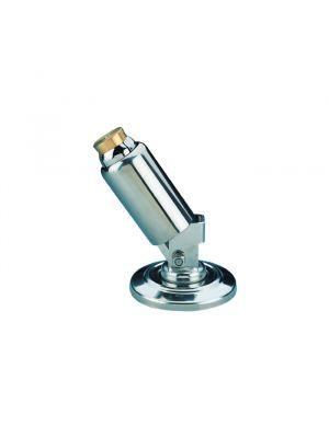 Snodo in acciaio inox lucido con flange Ø 43 mm per ribaltamento scaletta piscina
