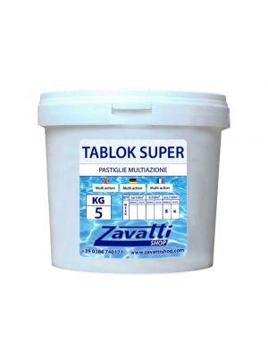 5 Kg Tablok Super - pastiglie multifunzione tricloro per piscina