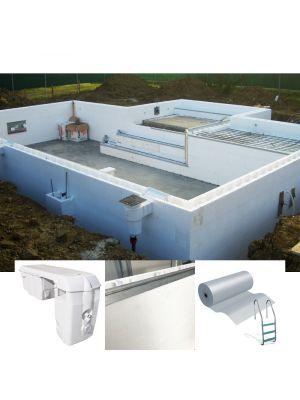 kit accessori BASIC costruzione / ristrutturazione piscina 4 x 8 m