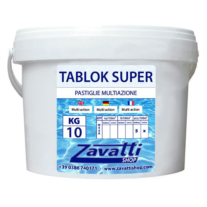 Trichloro Multifunction tabs chemical for pool - 10 Kg