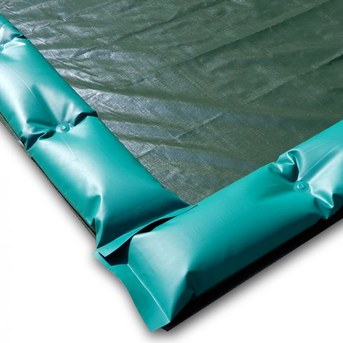 Winter cover with windproof tubes for swimming pool 10 X 5