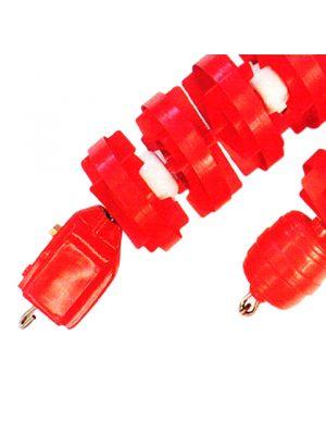 Corsia galleggiante ANTI/O da 25 mt Ø 110 mm frangionda Patentverwag rosso e bianco