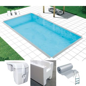 Easy kit basic, kit piscina fai da te 3 x 6 x h 1.50, skimmer