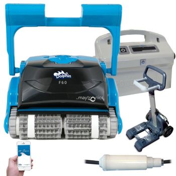 99991079-F6 Dolphin Maytronics F60 Gyro Timer Bluetooth pool robot - total clean