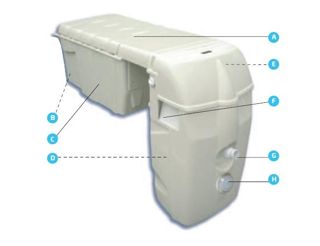 Impianto di filtrazione a zaino MX18