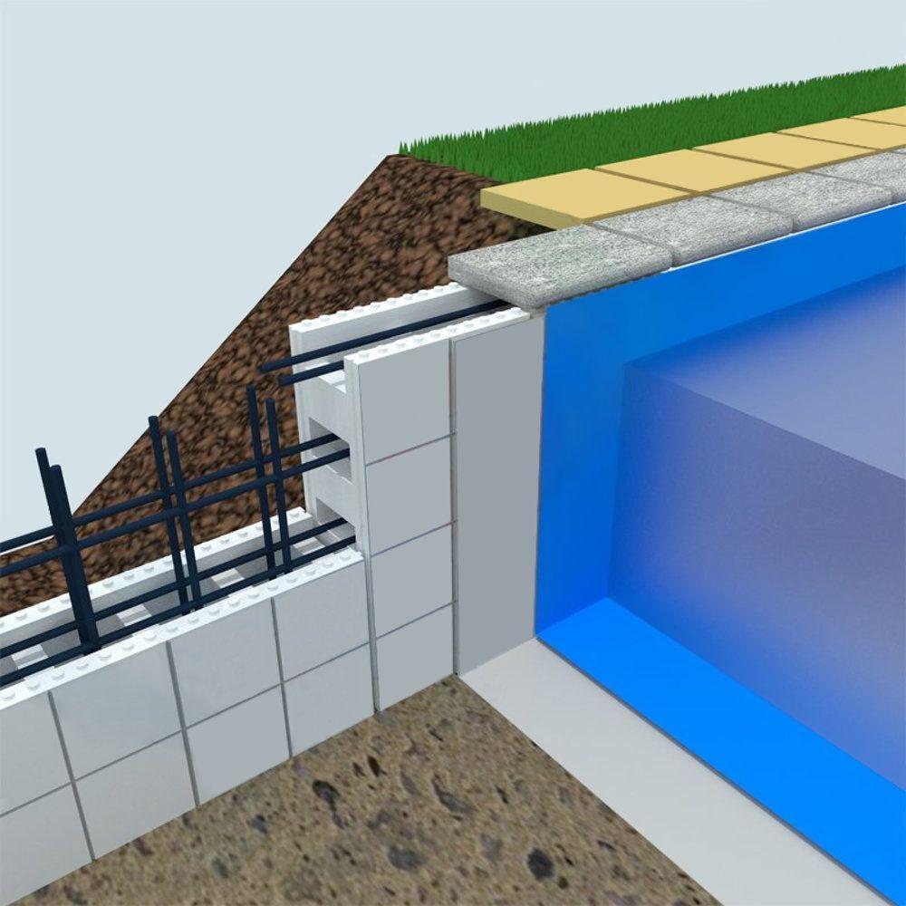 Struttura piscina interrata con casseri Easyblok