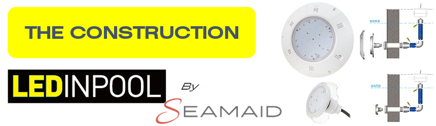 flat led projectors without niche by seamaid for the construction of new pools