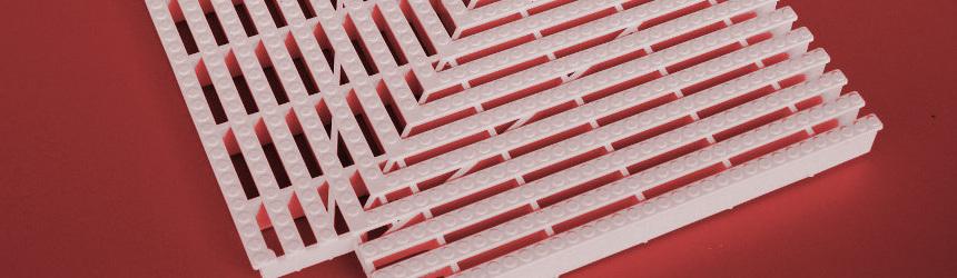 Elementi d'angolo per griglie rettilinee piscina a sfioro