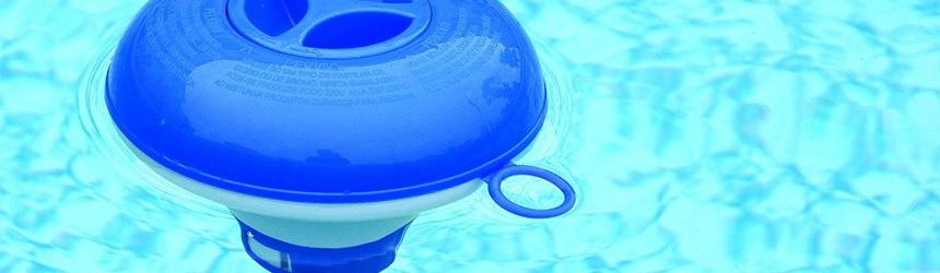 Dosatori galleggianti per piscina, per contenimento pastiglie e prodotti per il trattamento dell'acqua