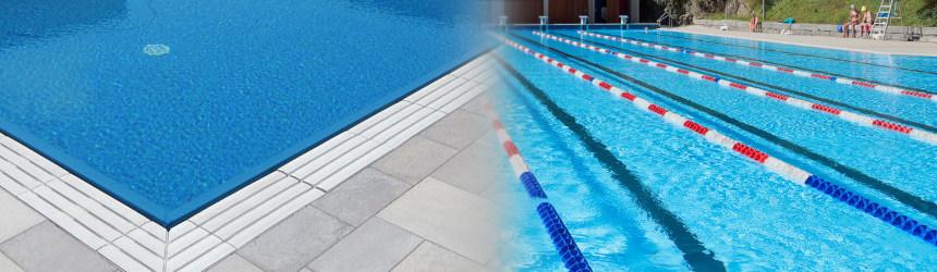 Griglie sfioro e corsie per piscina