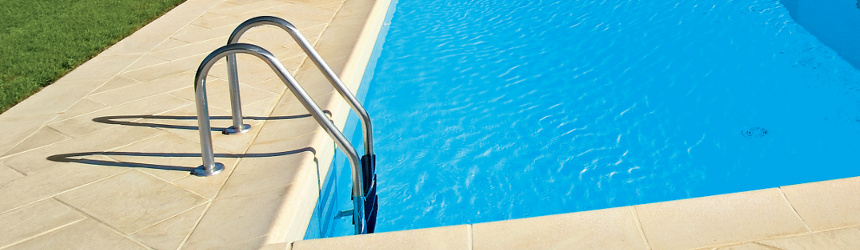Scalette interne per piscine interrate a skimmer in acciaio inox