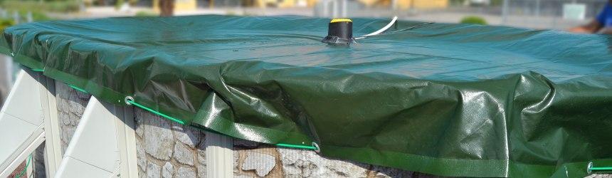 Teli di copertura invernale / 4 stagioni di alta qualità per piscine fuori terra Gre'.