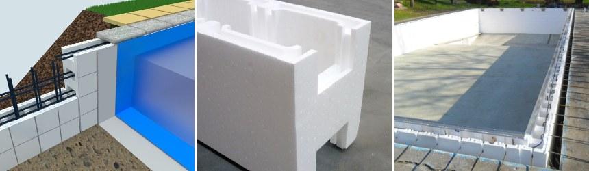 Kit casseri in EPS per costruzione piscina metodo Zavatti