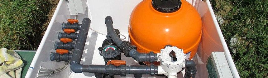 Impianti di filtrazione per piscina completi in locale tecnico