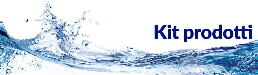 kit prodotti chimici per piscina