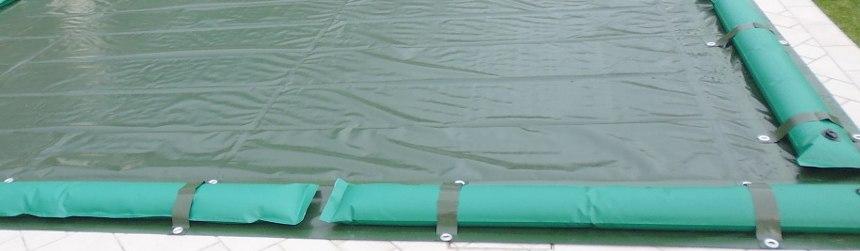 coperture invernali con fasce e tubolari per piscine interrate