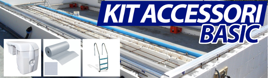 Kit accessori BASIC per completamento piscina in muratura