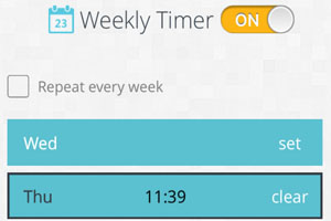 weekly timer